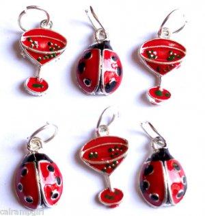Lot 40 Ladybug and Martini summer Charms