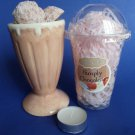 Simply Chocolate Ice Cream Parlour Candle Melts Ceramic Tart Burner