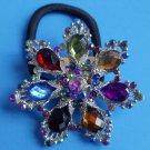 Multi Color Snowflake Ponytail Holder / Brooch Crystal