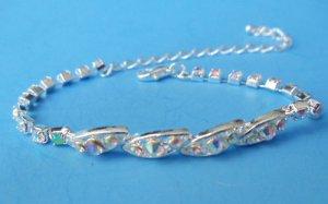 Tennis Bracelet silver shimmering Crystals