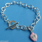 Pink Purfume Bottle charm Bracelet silver
