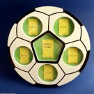Soccer Ball Picture Frame Collage holds 6 Photos