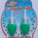 Green Christmas Lights Flashing Earrings