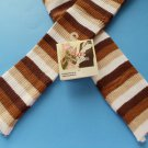 Striped Arm Warmers Brown Sweater Style