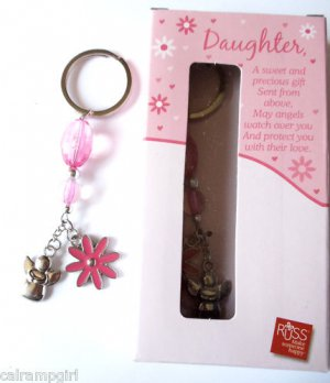 Daughter Charm Keychain with Poem Russ Berries