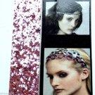 Soft Elastic Pink Glitter headband Sparkle Glitz