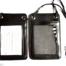 Black Badge ID Holder Caddy Pouch Wallet Lanyard