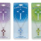 Wholesale Lot 10 Crystal Endless Faith Cross Necklaces