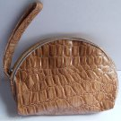 Tan Snake Skin coin Purse pouch vinal