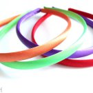 Satin Headbands set 4 Bright Orange Green Purple Red