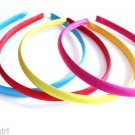 Satin Headbands set 4 Bright Red Blue Pink Yellow