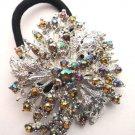 Topaz Designer Ponytail Holder / Brooch Crystal stones