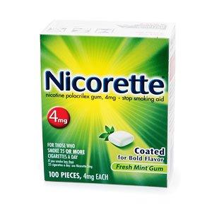 Nicorette Nicotine Gum 4mg, Fresh Mint 100 ea--stop smoking aid