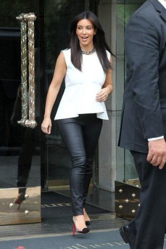 Celebrity Asymmetric White Top as seen on Kim Kardashian