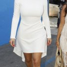 Celebrity Asymmetric White Dress as seen on Kim Kardashian