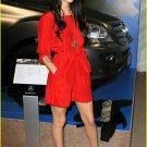 Silky Red Dress Mini Party Shirt Dress Megan Fox style