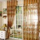 European style fashion tulle curtain with blackout luxury window curtain