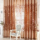 Luxurious Curtain Upscale Jacquard Yarn Curtains for Living Room Bedroom Decor Tulle