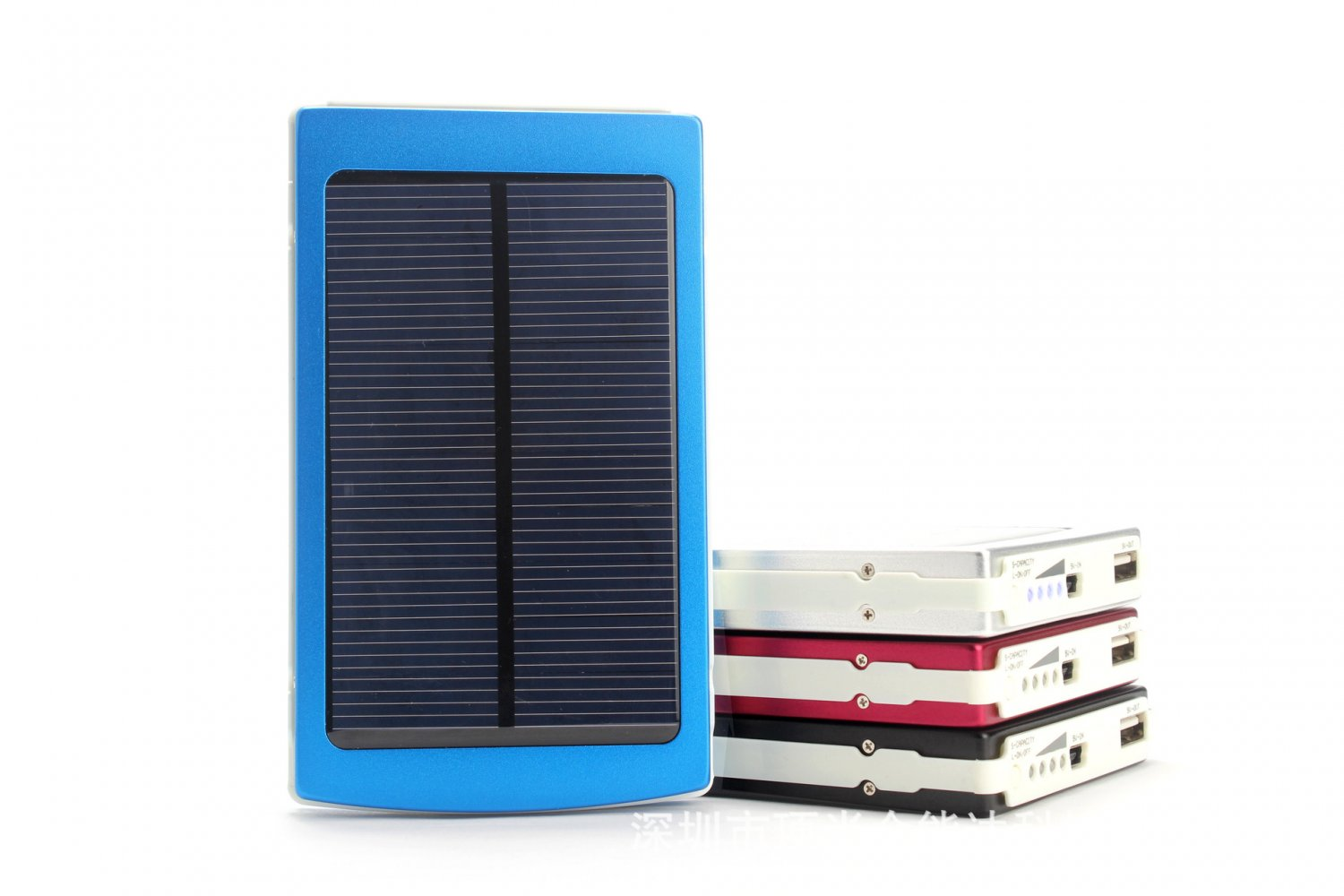 10000mah Dual USB Port.  External Backup Solar Power Bank Pack Charger For Mobile Device