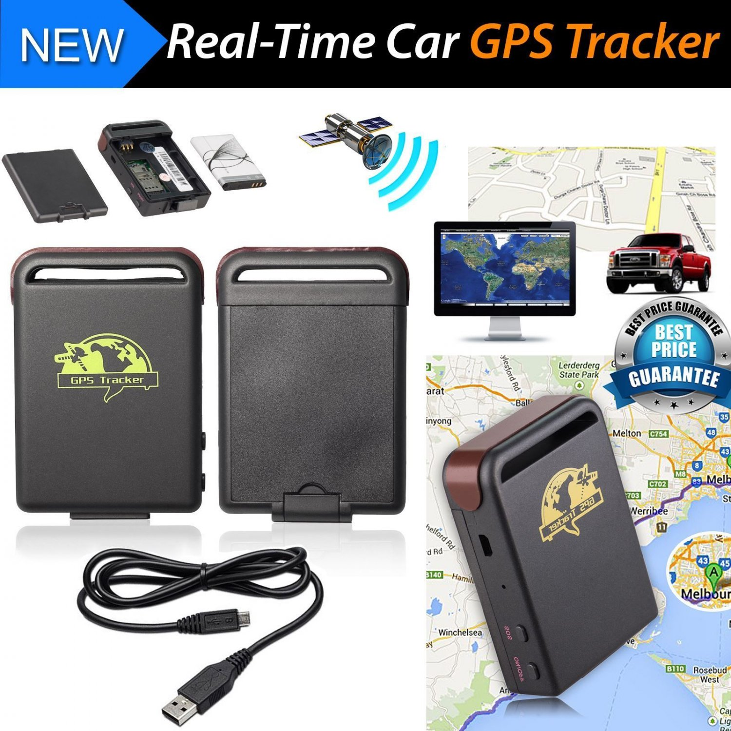 New TK102 GPS Tracker Magnetic Car Vehicle Spy Mini Personal Tracking Device