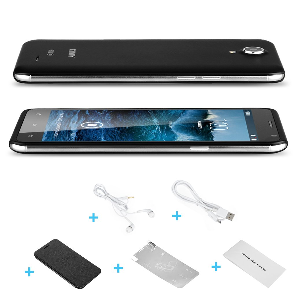 "TIMMY E86 5.5"" IPS HD Android 4.4 MTK6582 Quad Core 3G Mobile SmartPhone Gesture"