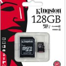 Kingston 128 GB UHS Class 1/Class10 Flash Memory Card (microSDXC to SD Adapter Included)