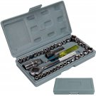"""New 40 Piece 3/8"""""""" And 1/4"""""""" Drive Socket Set Tool Kit Ratchet Wrench Driv"""