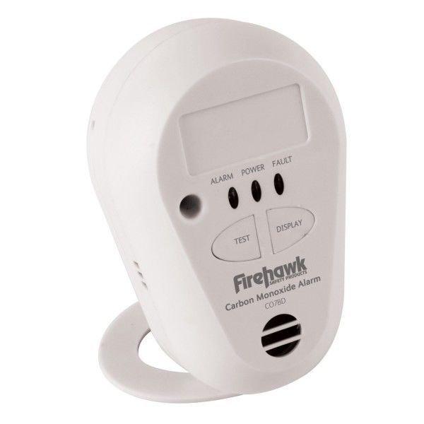 New Firehawk 7yr Long Life Carbon Monoxide Alarm Detector CO7B Lithium Battery