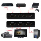 5 Port HDMI Switch Hub Switcher Splitter Selector iR Remote 1080p For PS3 HDTV