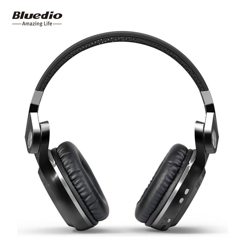 Bluedio T2S Black Bluetooth 4.1 Wireless Stereo Headphones Headsets,Built-in Mic