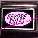 Eeyore Rules Custom Italian Charm 9mm