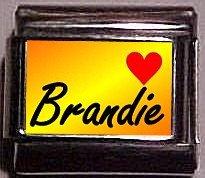 BRANDIE Custom Name Charm 9mm