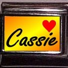 CASSIE Custom Italian Name Charm 9mm