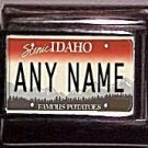 Idaho State License Plate Name Charm, Any Name You Want 9mm charm