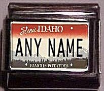 Idaho State License Plate Name Charm, Any Name You Want 9mm charm