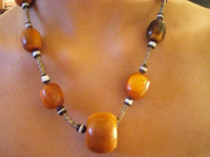 Hand made African beaded necklace