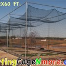 Batting Cage Net #30 12x12x60 ft. NEW Baseball Softball Netting