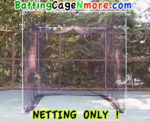 Golf cage nylon netting 10x10x10 ft. front open