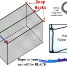 Batting Cage Netting 10x10x40 ft. New # 21 Nylon Net.