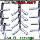 Batting Cage Baseball Softball FRAME KIT 50 Ft. 1 3/8 IN. FITTINGS NEW