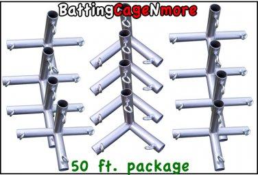 Batting Cage Baseball Softball FRAME KIT 50 Ft. 1 3/8 IN. FITTINGS NEW