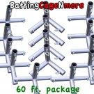 Batting Cage Baseball Softball FRAME KIT 60 Ft. 1 3/8 IN. FITTINGS NEW