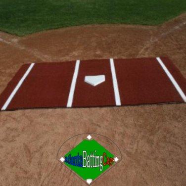 Clay Color 6' (Feet) x 12' (Feet) Synthetic Turf Baseball / Softball Hitting Mat