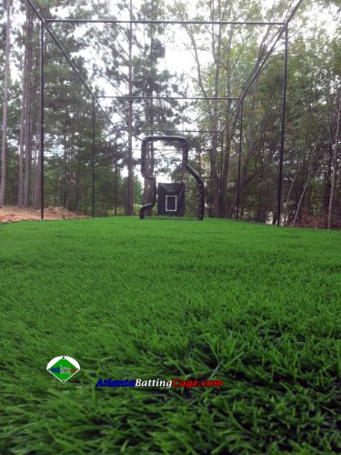 12x14x60 ft. Batting cage frame kit, Nylon net #30 and Net saver Baseball DIY