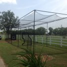 12x14x70 ft. Batting cage frame kit, Nylon net #30 and Net saver Baseball DIY