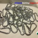 Carabiner Steel Spring Snap Links 3 1/4 in. long Heavy Duty 30 pcs FREE SHIPPING