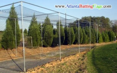 Batting Cage Netting 10x10x25 ft. WITH DOOR/BAFFLE  # 21 Nylon Net. NEW