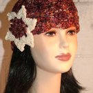 KNC Hand Crochet Ribbon 'n Rose Cloche Copper Penny