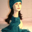 KNC Hand Knit Seaman's Wool Set Teal Blue Shades