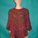 KNC Coming Home Hand Crochet Poncho Corinthian Sz S-M
